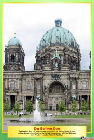 Набор стендов Достопримечательности Германии в желто-зеленых цветах 10 штук 310*210мм Изображение #8
