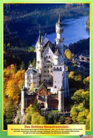 Набор стендов Достопримечательности Германии в желто-зеленых цветах 10 штук 310*210мм Изображение #5