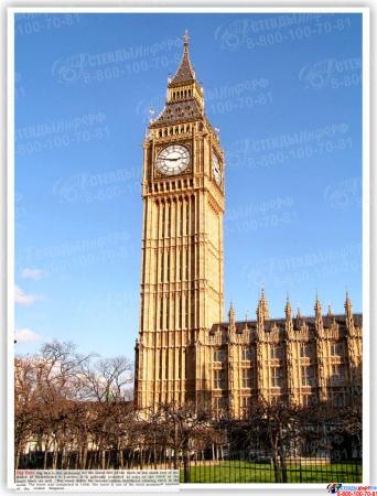 Стенд UNITED KINGDOM на английском языке в стиле Лондон 1200*550 мм Изображение #3