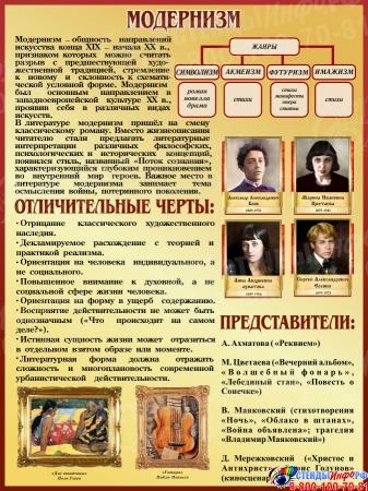 Стенд Модернизм в искусстве и литературе 300*400 мм