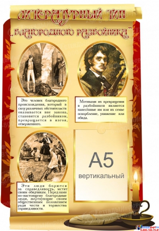 Композиция Типы литературных героев для кабинета русского языка и литературы 1640*2120 мм Изображение #2