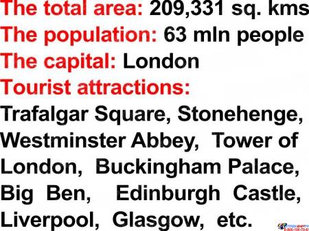 Стенд Достопримечательности англоговорящих стран в синих тонах 750*750мм Изображение #3