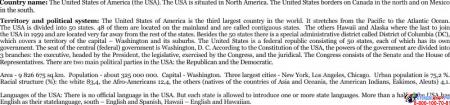 Стенд Достопримечательности США на английском языке в голубых тонах 700*850 мм Изображение #1