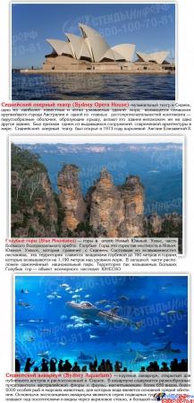 Стенд Достопримечательности Австралии 700*850мм Изображение #3