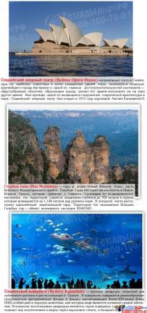 Стенд Достопримечательности Австралии 750*600мм Изображение #3