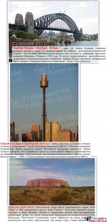 Стенд Достопримечательности Австралии желтый 600*750мм Изображение #2