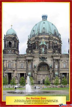 Комплект стендов Достопримечательности Германии для кабинета немецкого языка в золотисто-бордовых тонах  215*310 мм, 310*210 мм Изображение #6