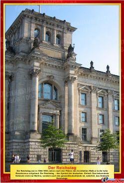 Комплект стендов Достопримечательности Германии для кабинета немецкого языка в золотисто-бордовых тонах  215*310 мм, 310*210 мм Изображение #2