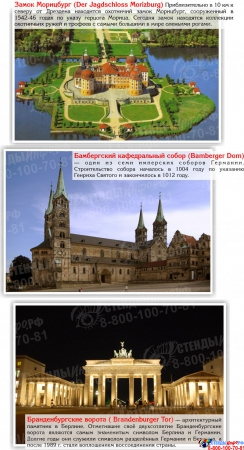 Стенд Достопримечательности Германии в голубых тонах 600*750 мм Изображение #2