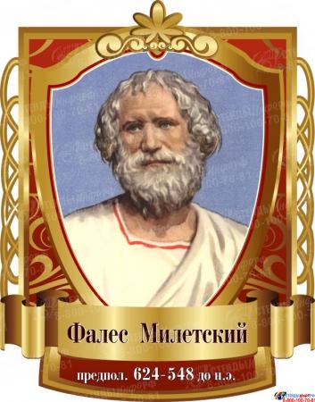 Комплект стендов портретов Знаменитые математики  в золотисто-бордовых тонах 330*410 мм 8 шт. Изображение #1