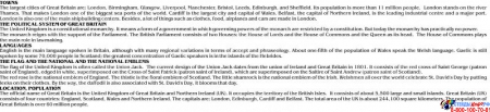 Стенд Карта Великобритании для кабинета английского языка золотисто-бордовых тонах 1250*1000мм Изображение #1