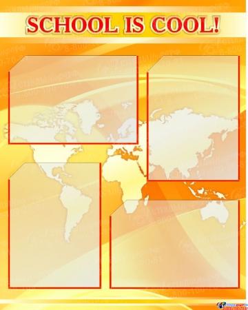 Композиция из 3-х стендов для кабинета английского языка в золотисто-оранжевых тонах 600*750мм Изображение #3