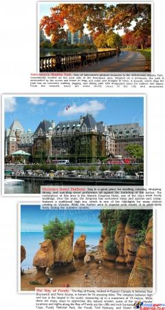 Стенд Достопримечательности Канады на английском языке 600*750 мм Изображение #3