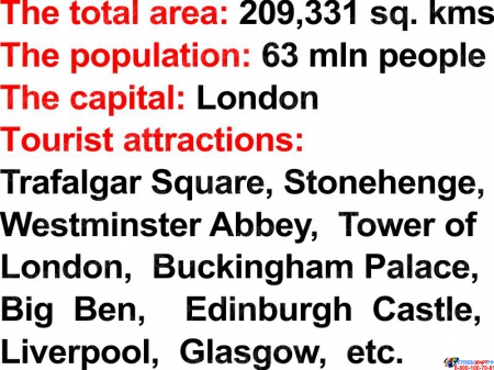 Стенд English-speaking countries на английском языке в оранжевых тонах 750*750 мм Изображение #4