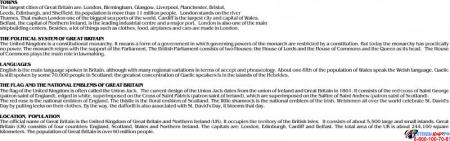 Стенд UNITED KINGDOM в золотисто-сиреневых тонах в кабинет английского языка 1000*1300 мм Изображение #3