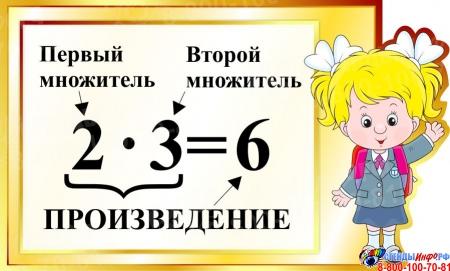 Стенд Произведение для начальной школы в золотистых тонах 570*350мм