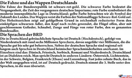 Стенд  Информационный в кабинет немецкого языка желто-зеленый 1500*700мм Изображение #6