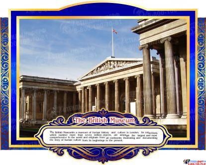 Комплект стендов Достопримечательности Великобритании для кабинета английского языка в золотисто-синих тонах  265*350 мм, 280*350 мм Изображение #4