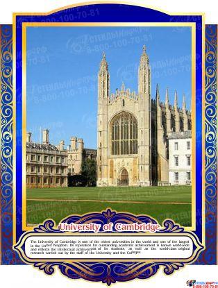 Комплект стендов Достопримечательности Великобритании для кабинета английского языка в золотисто-синих тонах  265*350 мм, 280*350 мм Изображение #7