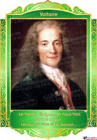 Комплект портретов Знаменитые французкие деятели в золотисто-зелёных тонах 260*350 мм Изображение #4