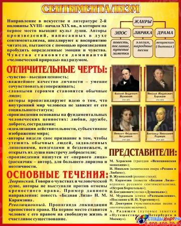 Стенд Сентиментализм в искусстве и литературе 400*500 мм
