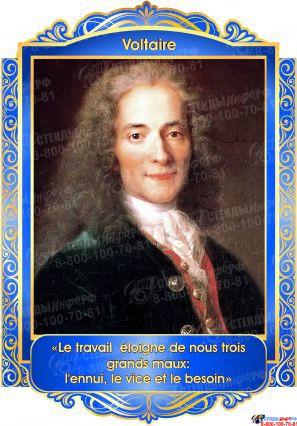Комплект портретов Знаменитые французкие деятели в золотисто-синих тонах 260*350 мм Изображение #4