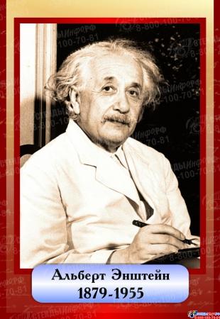 Комплект  портретов Знаменитые физики в бордовых тонах 200*290 мм Изображение #5