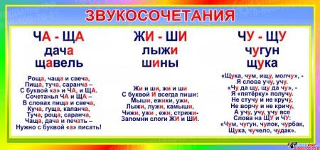 Стенд Словосочетания в кабинет русского языка 910*430 мм