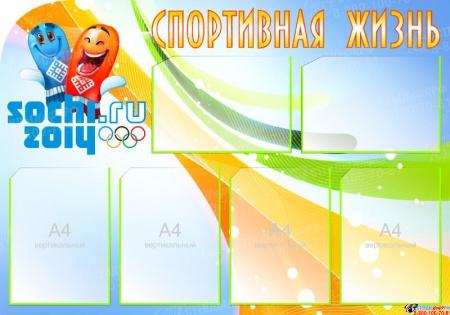 Стенд Спортивная жизнь - Sochi с олимпийской символикой