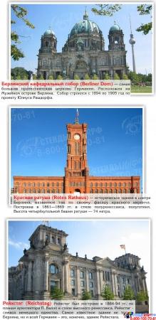 Стенд Достопримечательности Германии в золотисто-зеленых тонах 600*750 мм Изображение #3