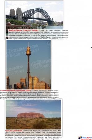 Стенд Достопримечательности Австралии желтый 700*850мм Изображение #2