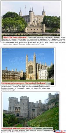 Стенд Достопримечательности Великобритании в голубых тонах  600*750мм Изображение #3