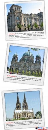 Стенд Deutschland в кабинет немецкого языка в золотисто-бордовых тонах 750*800мм Изображение #3