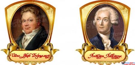 Комплект портретов  Знаменитые химики в золотистых тонах 320*350 мм Изображение #3