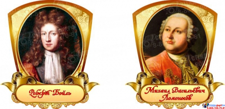 Комплект портретов  Знаменитые химики в золотистых тонах 320*350 мм Изображение #4