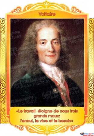 Комплект портретов Знаменитые французские деятели в жёлто-оранжевых тонах 260*350 мм Изображение #5