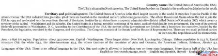Стенд Достопримечательности США на английском языке в золотисто-зеленых тонах 700*850 мм Изображение #3
