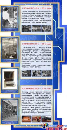 Стендовая композиция для кабинета Информатики в синих тонах 2070*1000 мм Изображение #2