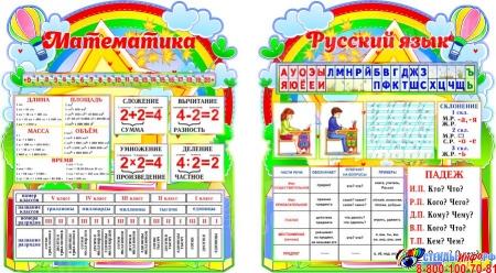 Стендовая композиция Математика и Русский язык в стиле я познаю мир