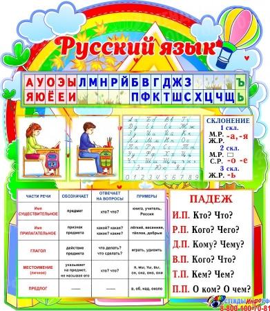 Стендовая композиция Математика и Русский язык в стиле я познаю мир Изображение #2