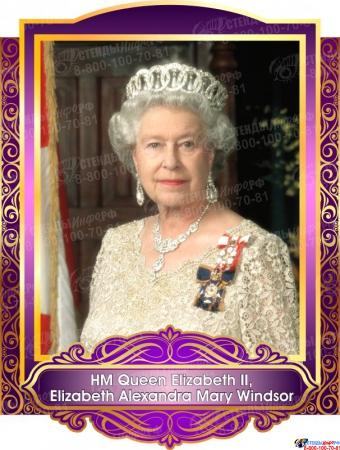Комплект портретов Знаменитые Британцы для кабинета английского языка в золотисто-сиреневых тонах 260*350 мм Изображение #8