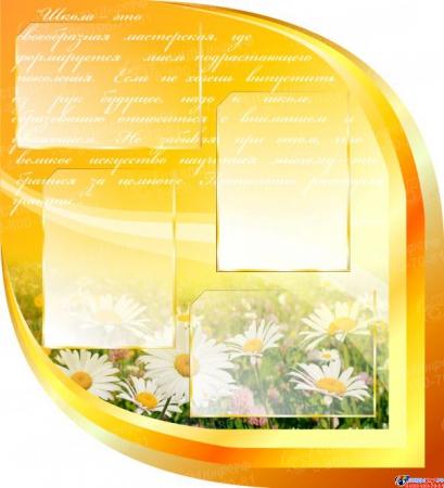 Стендовая композиция Школьная жизнь в золотисто-оранжевых тонах 2170*1270мм Изображение #2