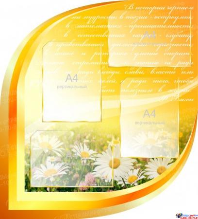 Стендовая композиция Школьная жизнь в золотисто-оранжевых тонах 2170*1270мм Изображение #3